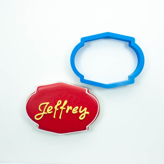 The Jeffrey Plaque Cookie Cutter