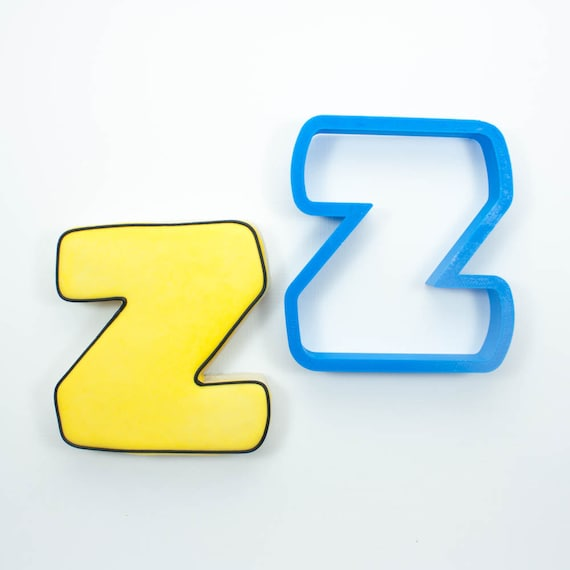 Letter Z Cookie Cutter | Alphabet Cookie Cutters | Letter Cookie Cutters | ABC Cookie Cutters | Large Alphabet Cookie Cutters