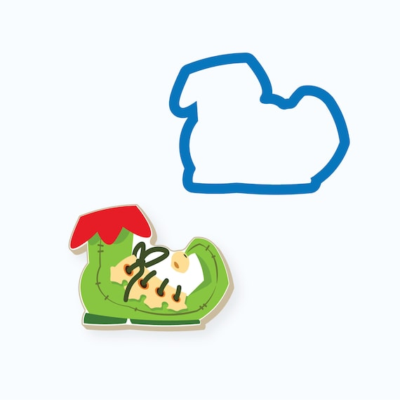 Elf Shoe with Bell Cookie Cutter