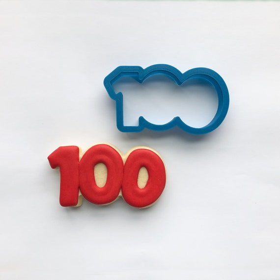 Number 100 Cookie Cutter | One Hundred Cookie Cutter | Number Cookie Cutters | Birthday Cookie Cutters | Unique Cookie Cutters