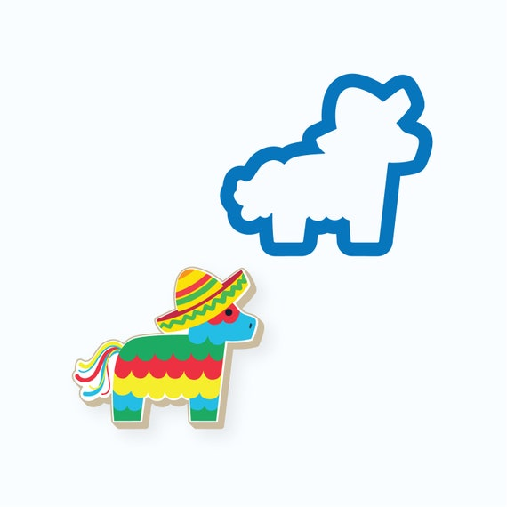 Pinata Cookie Cutter | Cinco De Mayo Cookie Cutter | Fiesta Cookie Cutter | Celebration Cookie Cutter | Sombrero Cookie Cutter | FrostedCo