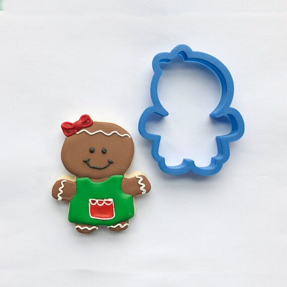Chubby Gingerbread Girl Cookie Cutter