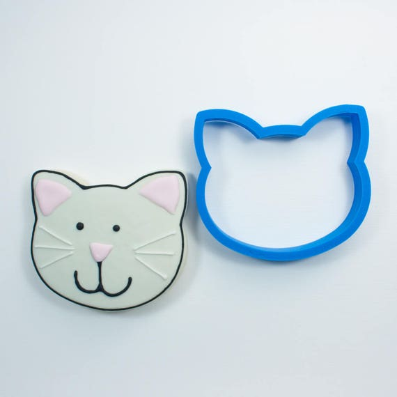 Cat Head Cookie Cutter | Cat Cookie Cutter | Kitten Cookie Cutter | Cookie Cutters | Cat Face Cookie Cutter
