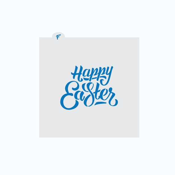 Easter Cookie Stencil | Happy Easter Cookie Stencil | Cookie Stencil | Easter Stencil | Craft Stencil | FrostedCo