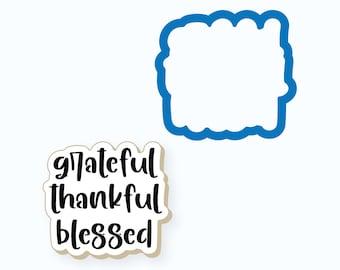 Thanksgiving Cookie Cutter   Grateful Thankful Blessed Plaque Cookie Cutter   Thanksgiving Plaque Cookie Cutter   Grateful Thankful Blessed