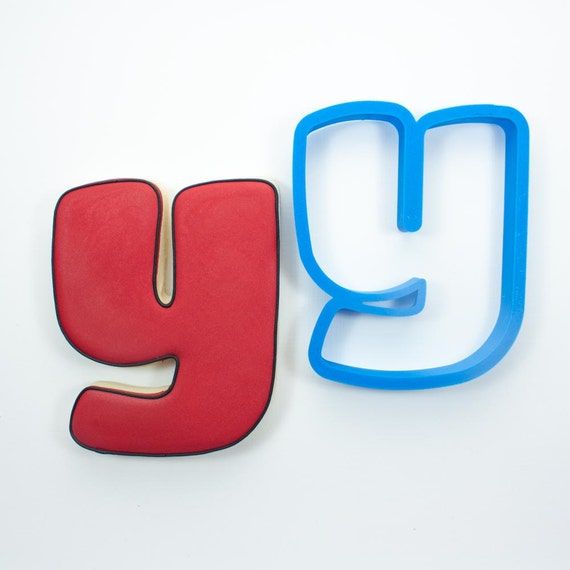 Letter Y Cookie Cutter | Alphabet Cookie Cutters | Letter Cookie Cutters | ABC Cookie Cutters | Large Alphabet Cookie Cutters