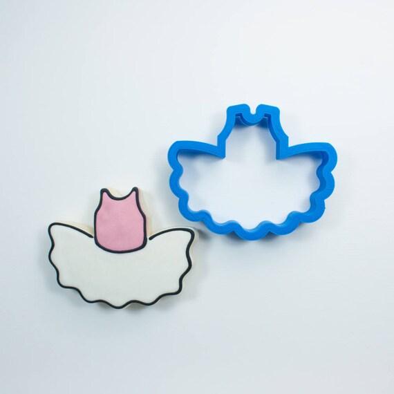 Chubby Ballerina Tutu Cookie Cutter | Ballet Cookie Cutter | Birthday Cookie Cutters | 3D Cookie Cutters | Mini Cookie Cutters