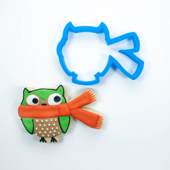 Owl with Scarf Cookie Cutter