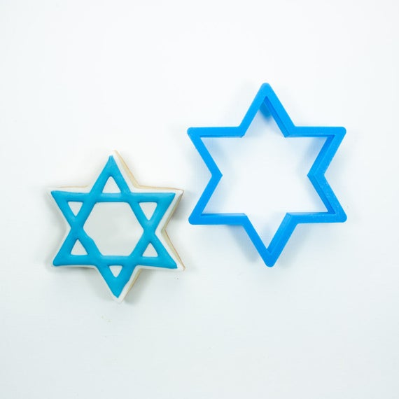 Star of David Cookie Cutter | Hanukkah Cookie Cutter | Star Cookie Cutter | Menorah Cookie Cutter | Unique Cookie Cutters | Frosted Cutters