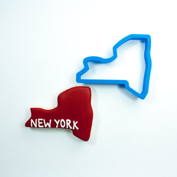 New York Cookie Cutter | State Cookie Cutters | State Shaped Cookie Cutters | USA Cookie Cutters | Badger Cookie Cutters
