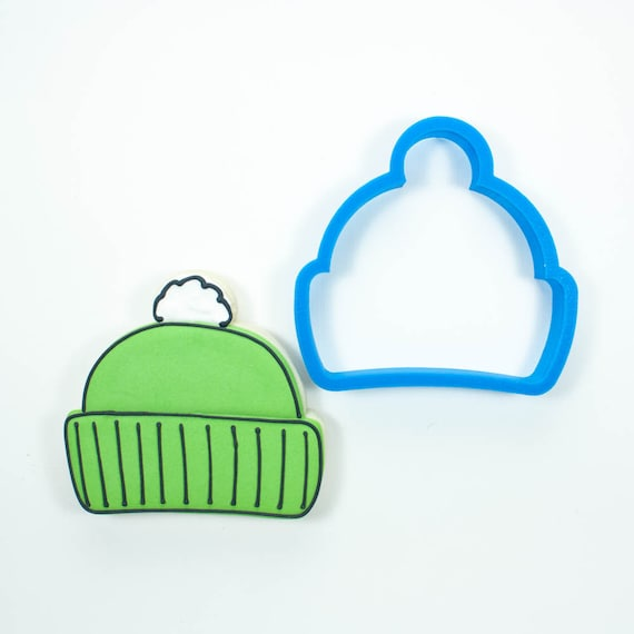 Winter Hat Cookie Cutter | Hat Cookie Cutter | Beanie Cookie Cutter | Winter Cookie Cutter | Unique Cookie Cutter | Frosted Cutters