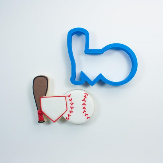 Baseball Trio Cookie Cutter | Baseball Cookie Cutter | Home Plate Cookie Cutter | Baseball Mom | Baseball Cookies | Sports Cookie Cutters