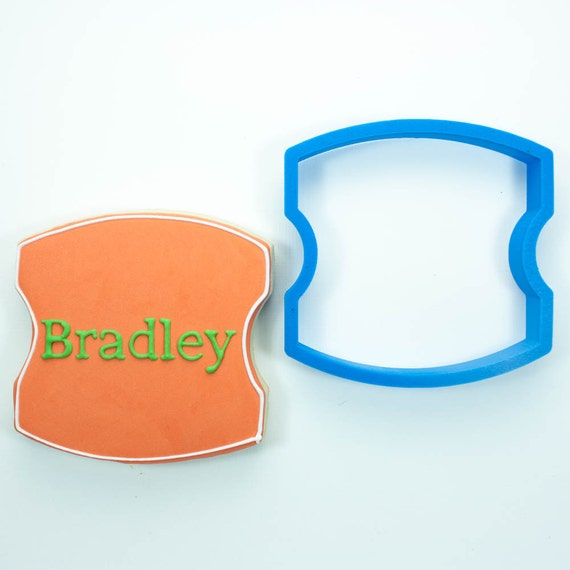 The Bradley Plaque Cookie Cutter