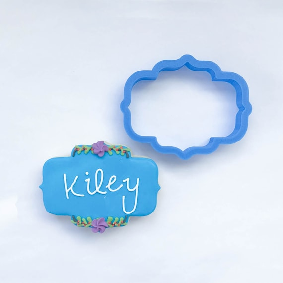 The Kiley Plaque Cookie Cutter | Plaque Cookie Cutters | 3D Cookie Cutters
