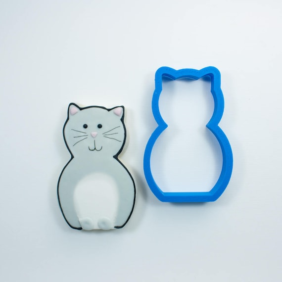 Simple Cat Cookie Cutter | Cat Cookie Cutter | Kitten Cookie Cutter | Custom Cookie Cutters | Unique Cookie Cutters | 3D Cookie Cutters