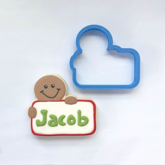 Chubby Gingerbread Boy Plaque Cookie Cutter