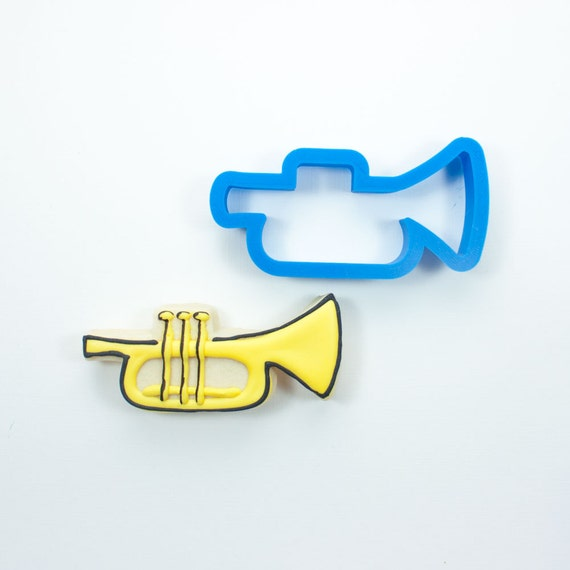 Trumpet Cookie Cutter | Mardis Gras Cookie Cutter | Music Cookie Cutter | Mini Cookie Cutter | Unique Cookie Cutter | 3D Cookie Cutter