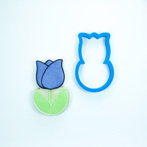 Chubby Tulip Cookie Cutter | Spring Cookie Cutters | Easter Cookie Cutters | Flower Cookie Cutter | Tulip Cookie Cutter