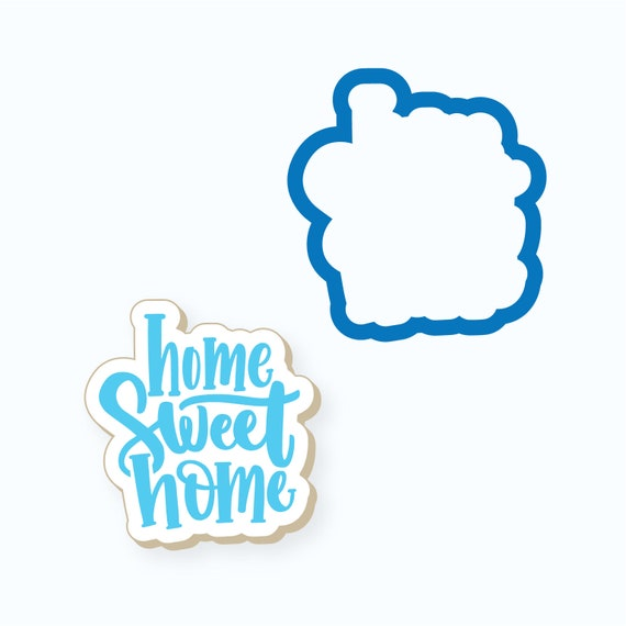 New Home Cookie Cutter | Chubby Home Sweet Home Cookie Cutter | Plaque Cookie Cutter | Housewarming Cookie Cutter | Real Estate Cutter