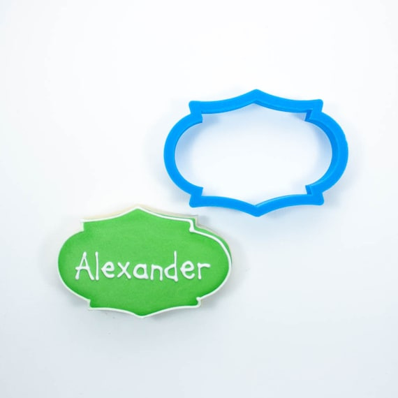 The Alexander Plaque Cookie Cutter