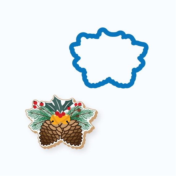 Pine Cones with Greenery Cookie Cutter