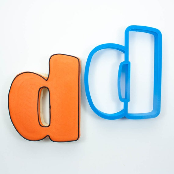 Letter D Cookie Cutter | Alphabet Cookie Cutters | Letter Cookie Cutters | ABC Cookie Cutters | Large Alphabet Cookie Cutters