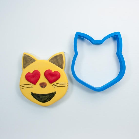 Cat Head Emoji Cookie Cutter