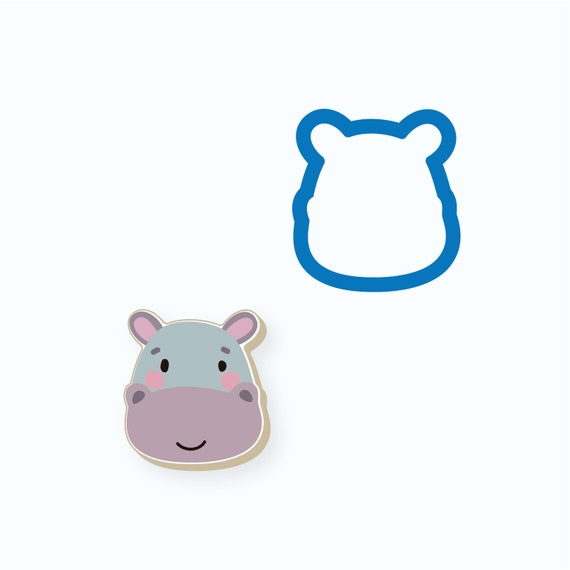 Hippo Cookie Cutter | Animal Cookie Cutter | Baby Shower Cookie Cutter | Birthday Cookie Cutter | Kids Cookie Cutters | FrostedCo