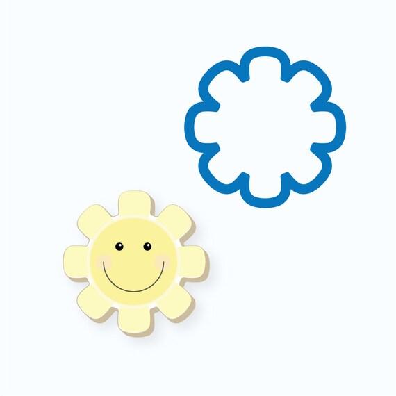 Sun Cookie Cutter | Chubby Sun Cookie Cutter | Sunshine Cookie Cutter | Summer Cookie Cutter | FrostedCo