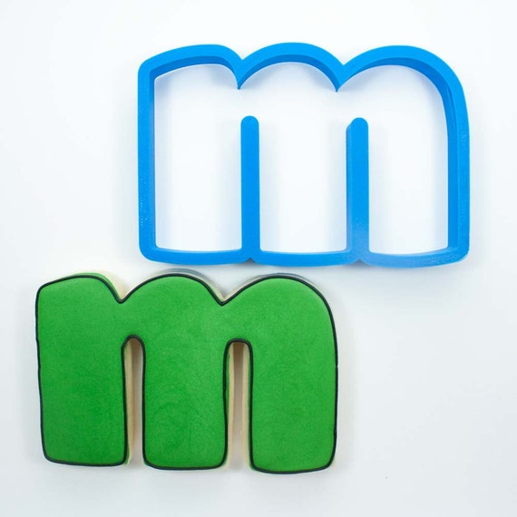 Letter M Cookie Cutter | Alphabet Cookie Cutters | Letter Cookie Cutters | ABC Cookie Cutters | Large Alphabet Cookie Cutters