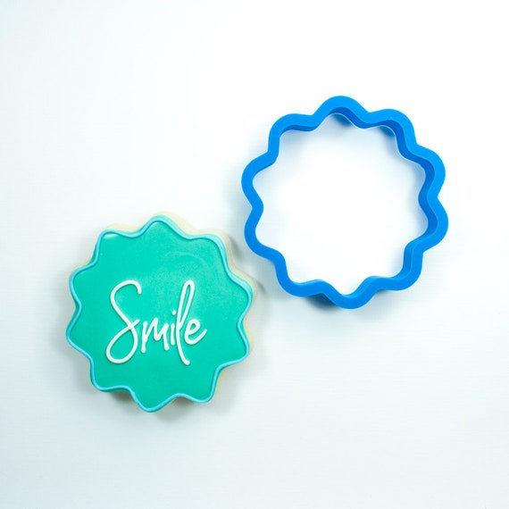 Wavy Circle Cookie Cutter | Fondant Cutters | Plaque Cookie Cutters | Mini Cookie Cutters | 3D Printed Cookie Cutter | Unique Cutters