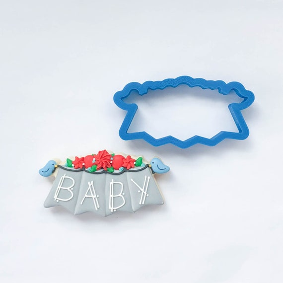 Bunting with Birds Cookie Cutter | Spring Cookie Cutters | Banner Cookie Cutters | Plaque Cookie Cutters | Mini Cookie Cutters