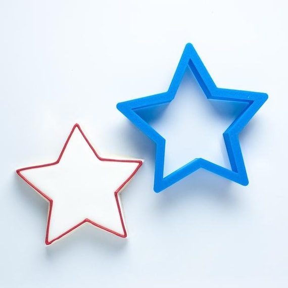 4th of July Set - Star, Simple Flag, Firework, and Pinwheel Cookie Cutters