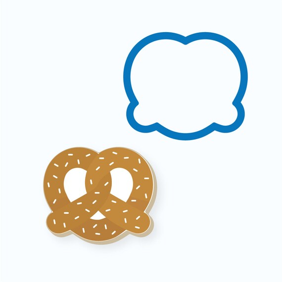 Pretzel Cookie Cutter | Snack Cookie Cutter | Food Cookie Cutter | FrostedCo