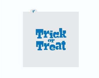 Halloween Stencil   Trick or Treat Cookie Stencil