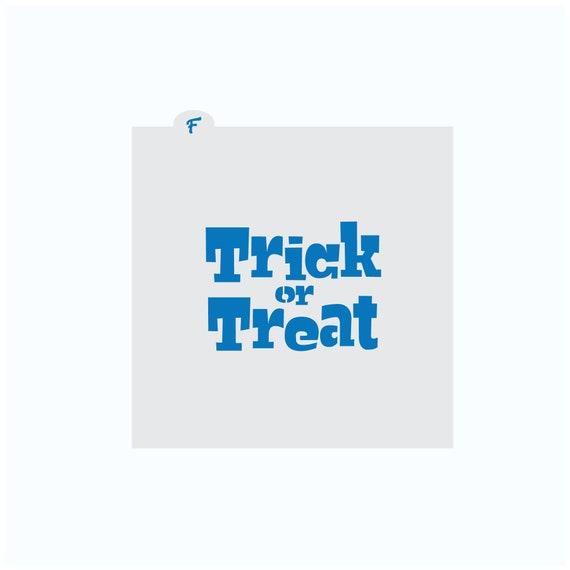 Halloween Stencil | Trick or Treat Cookie Stencil