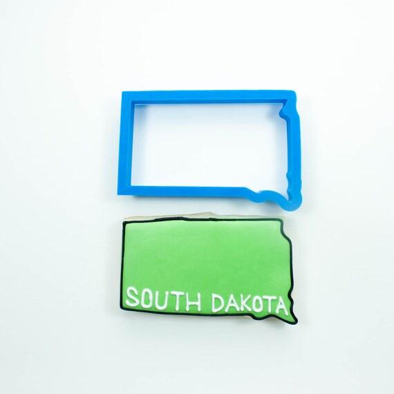 South Dakota Cookie Cutter | State Cookie Cutters | State Shaped Cookie Cutters | USA Cookie Cutters | 3D Cookie Cutters