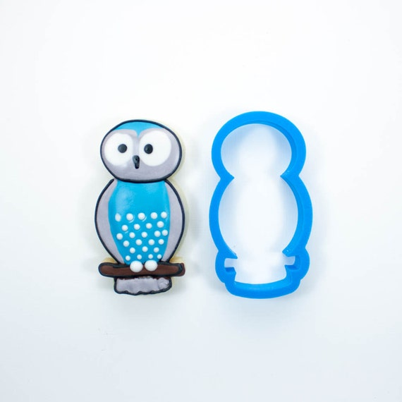 Round Owl Cookie Cutter | Owl Cookie Cutters | Mini Owl Cookie Cutter | Bird Cookie Cutters | Custom Cookie Cutters | 3D Cookie Cutters