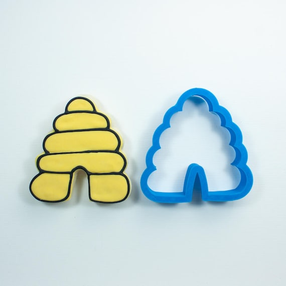 Beehive Cookie Cutter | Bee Cookie Cutter | Hive Cookie Cutter | Animal Cookie Cutter | Frosted Cookie Cutter