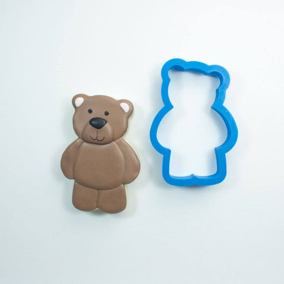 Teddy Bear Cookie Cutter | Woodland Cookie Cutters | Bear Cookie Cutters | Bear Shaped Cookie Cutter | Mini Cookie Cutters