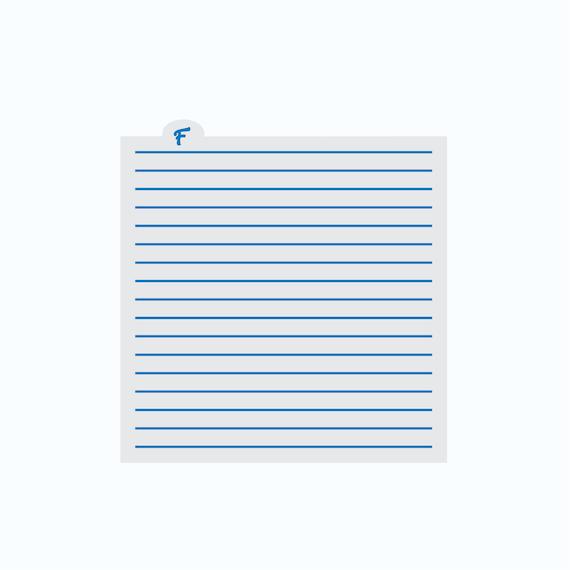 Stripes Stencil | Thin Stripes Cookie Stencil | Lines Stencil | Background Cookie Stencil | Craft Stencil | FrostedCo