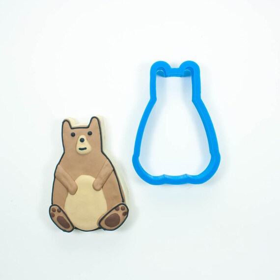 Bear Cookie Cutter | Woodland Cookie Cutters | Bear Cookie Cutters | Bear Shaped Cookie Cutter | Mini Cookie Cutters | 3D Cookie Cutters