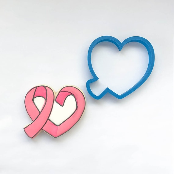 Awareness Ribbon Heart Cookie Cutter