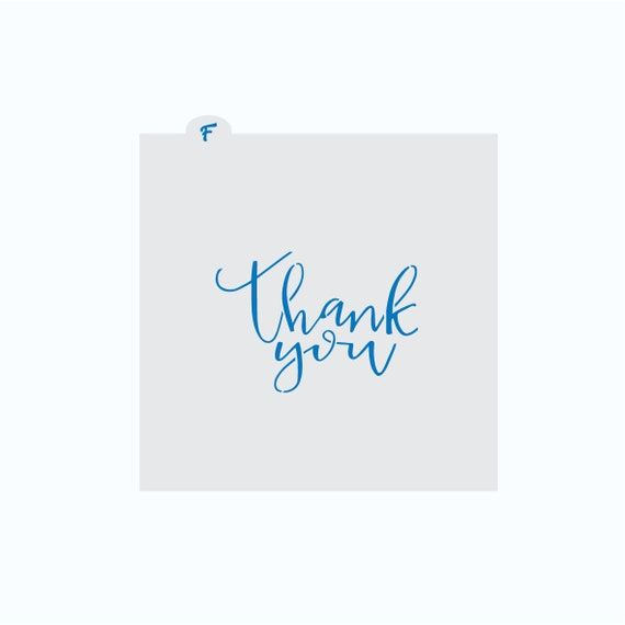 Thank You Stencil | Thank You Cookie Stencil | Cookie Stencil | Craft Stencil | FrostedCo