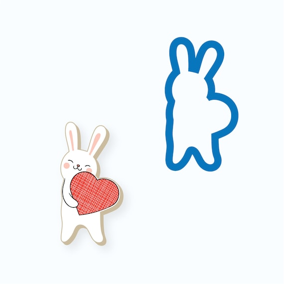Rabbit Cookie Cutter | Bunny Cookie Cutter | Animal Cookie Cutter | Baby Shower Cookie Cutter | Birthday Cookie Cutter | Kids Cookie Cutters