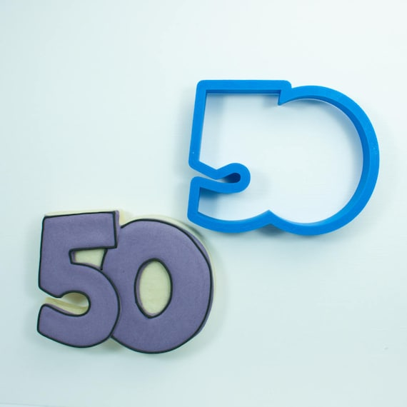 Number 50 Cookie Cutter | Fifty Cookie Cutter | Number Cookie Cutters | Birthday Cookie Cutters | Unique Cookie Cutters