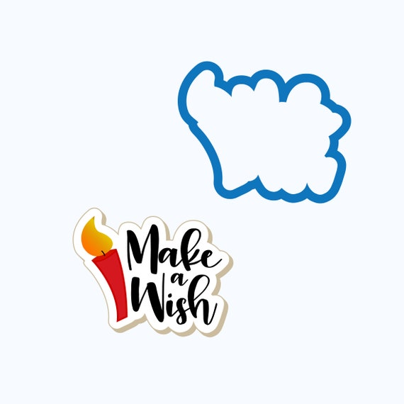 Make a Wish Plaque Cookie Cutter | Birthday Cookie Cutter | Plaque Cookies |  Birthday Cookies | Birthday Candle Cookie Cutter | Frosted
