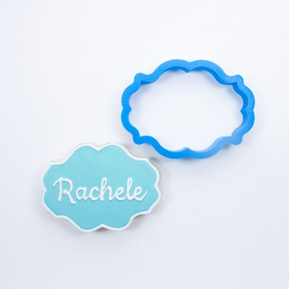 Plaque Cookie Cutter | Rachele Plaque Cookie Cutter | Frame Cookie Cutter | Unique Cookie Cutter | 3d Cookie Cutter | Frosted Cutters