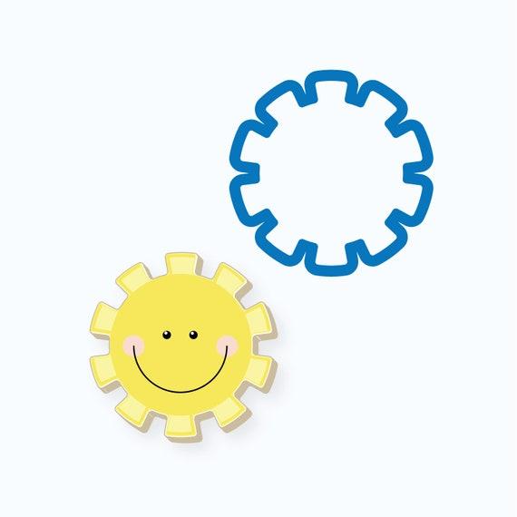 Sun Cookie Cutter | Happy Sun Cookie Cutter | Sunshine Cookie Cutter | Summer Cookie Cutter | FrostedCo