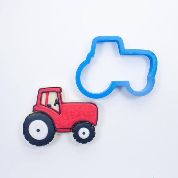 Tractor Cookie Cutter | Mini Tractor Cookies | Truck Cookie Cutters | Birthday Cookie Cutters | Unique Cookie Cutters | 3D Cookie Cutters